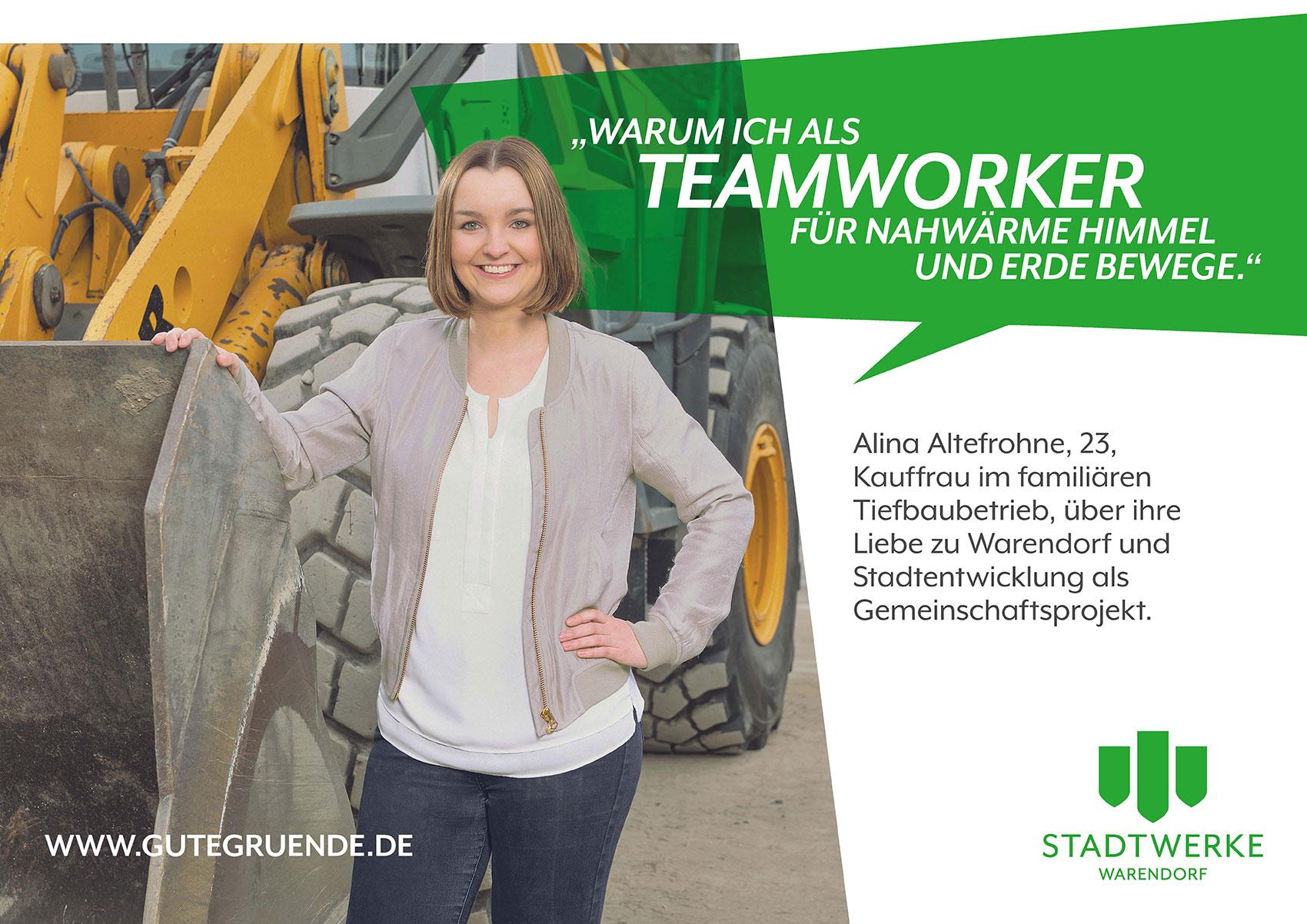 """Kauffrau im elterlichen Tierbetrieb Alina Altefrohne steht für """"Wir geben alles für Warendorf"""""""
