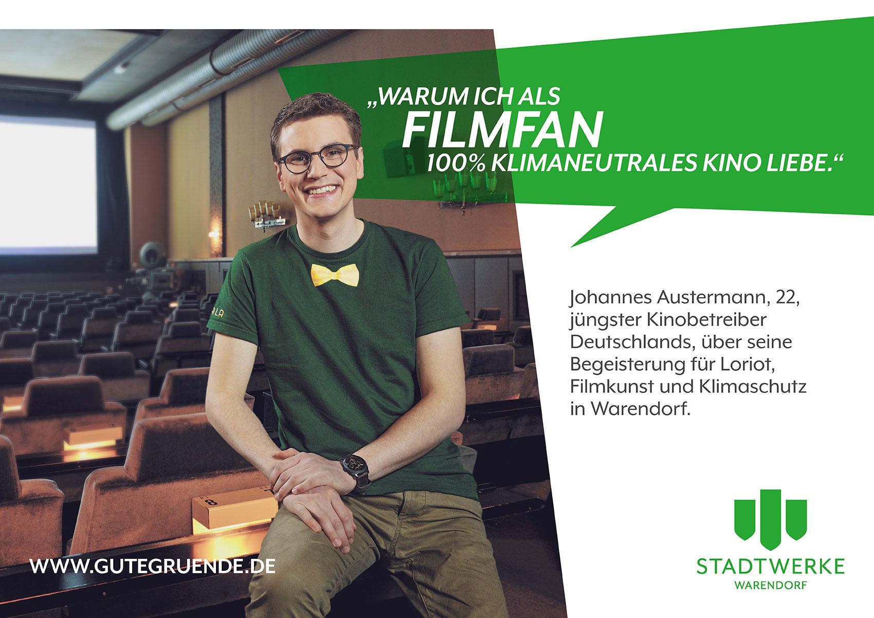 """Kinobetreiber Johannes Austermann steht für """"Wir lieben das Warendorfer Leben"""