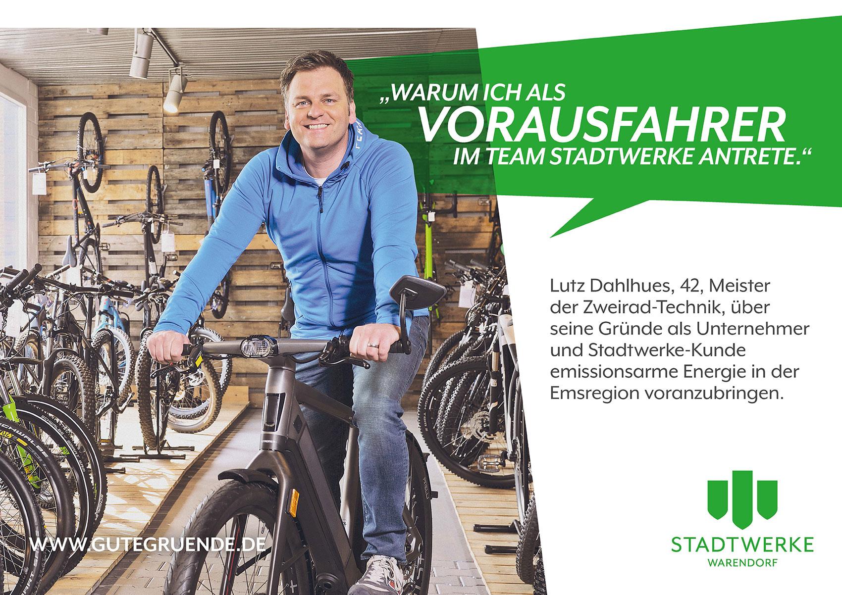 """Unternehmer Lutz Dahlhues steht für """"Wir bringen Warendorf voran!"""""""